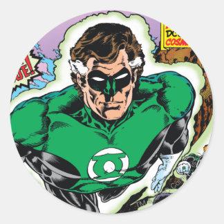 Green Lanterns Flying Classic Round Sticker