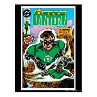 Green Lanterns Flying Postcard