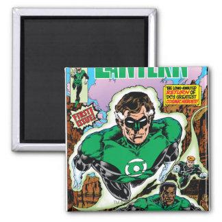 Green Lanterns Flying Square Magnet