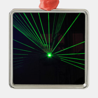 Green Laser Show Christmas Ornament