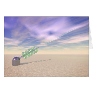 Green Laser Technology Greeting Card