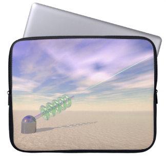 Green Laser Technology Laptop Sleeve