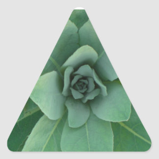 Green layered plant triangle sticker