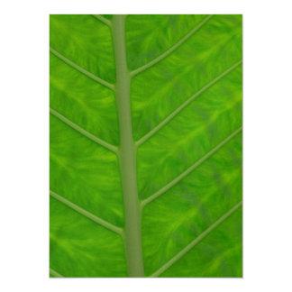 Green Leaf 14 Cm X 19 Cm Invitation Card