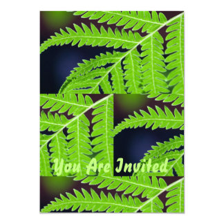 Green  Leaf Abstract Card