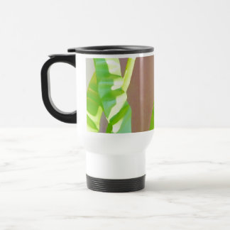 Green Leaf Abstract. Stainless Steel Travel Mug