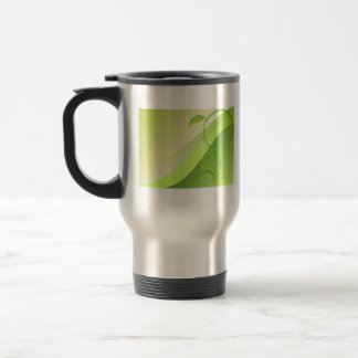 Green Leaf Background Travel Mug