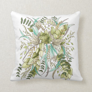 Green Leaf Botanical Cushion