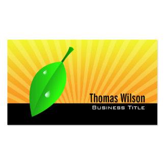 Green Leaf Business Cards