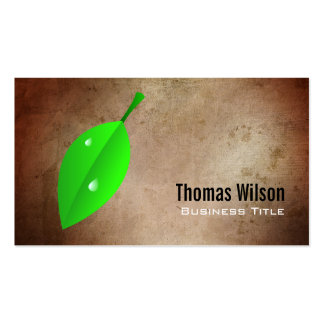 Green Leaf Business Cards Template