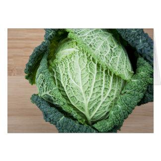 Green Leaf Cabbage Card