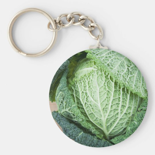 Green Leaf Cabbage Key Ring