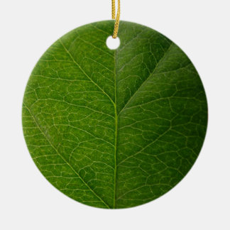 Green Leaf Christmas Ornament