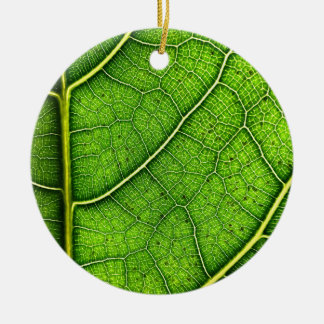 Green leaf Dble-sided Ornament