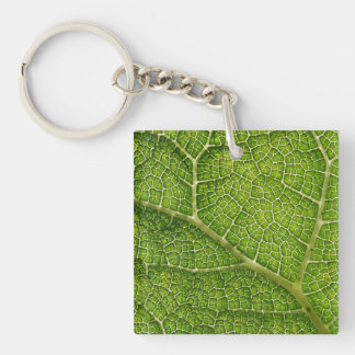 Green Leaf. Digital Art. Key Ring