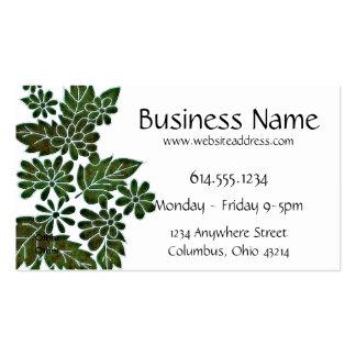 Green Leaf/Flower Elegant Business Card