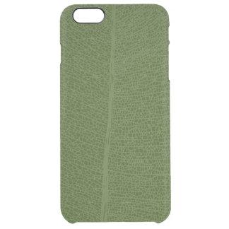 Green Leaf Grid Illustration iPhone Case