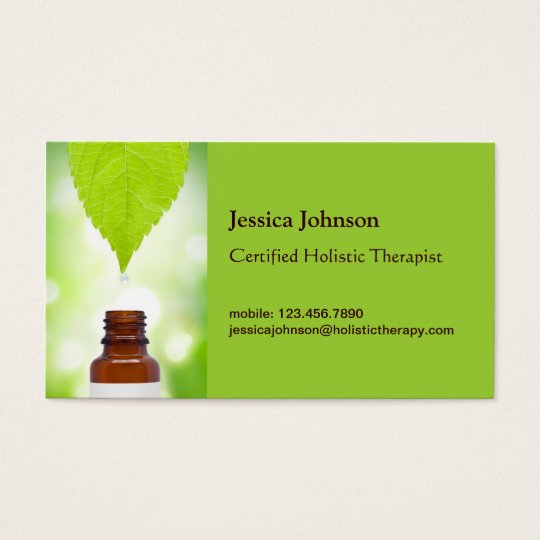 Green Leaf Holistic Therapy Business Card