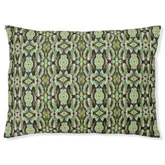 Green Leaf Mint Pattern Pale Greens Leaves Dog Bed