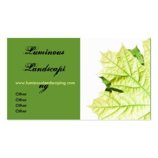 Green Leaf Motif Business Card