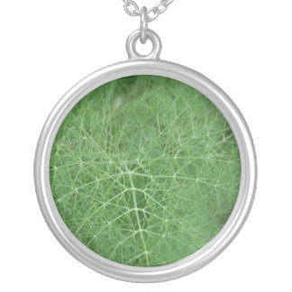 Green Leaf Round Pendant Necklace