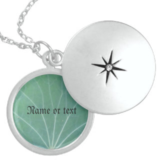 Green Leaf Personalized Necklace