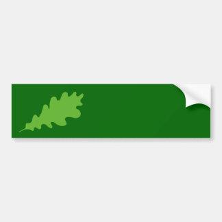 Green Leaf, Oak Tree leaf Design. Bumper Sticker