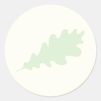 Green Leaf, Oak Tree leaf Design. Classic Round Sticker
