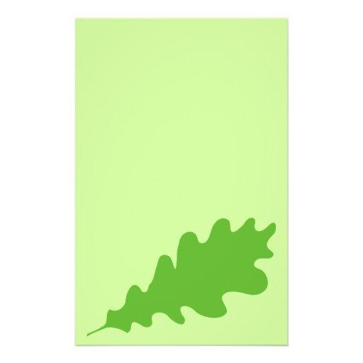 Green Leaf, Oak Tree leaf Design. Custom Flyer
