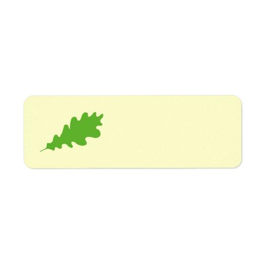 Green Leaf, Oak Tree leaf Design. Return Address Label