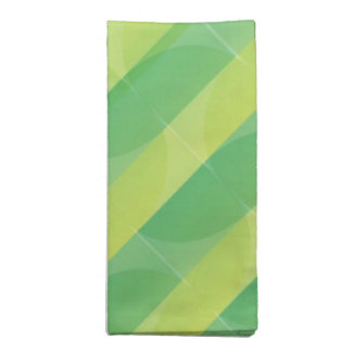 Green Leaf Pattern Cloth Napkins