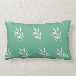 Green Leaf Pattern Lumber Pillow