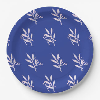 Green Leaf Pattern Paper Plate 9 Inch Paper Plate