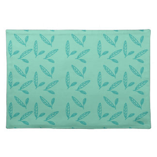 Green leaf pattern placemat