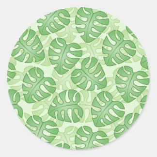 Green Leaf Pattern Sticker