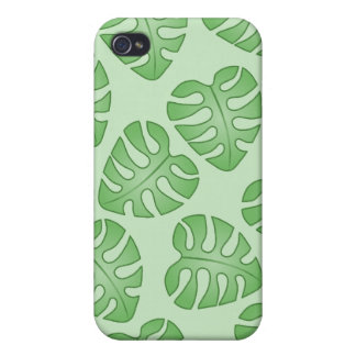 Green Leaf Pern, Monstera Leaves. Case For The iPhone 4