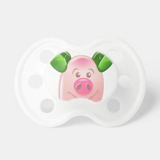 Green Leaf Pig Pacifiers
