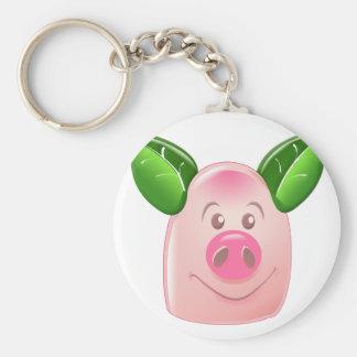 Green Leaf Pig Keychains