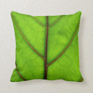 Green Leaf Pillow Throw Cushion