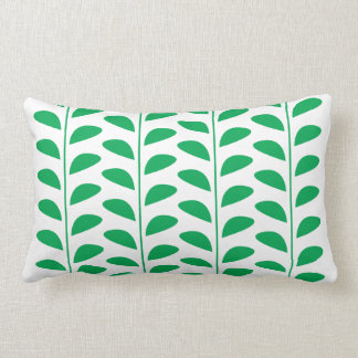 GREEN LEAF PRINT LUMBAR CUSHION