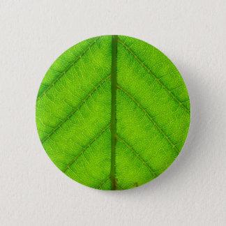 Green Leaf Round Button