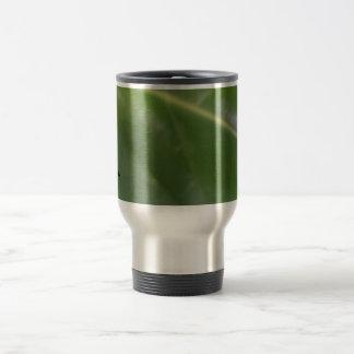 Green Leaf Stainless Steel Travel Mug