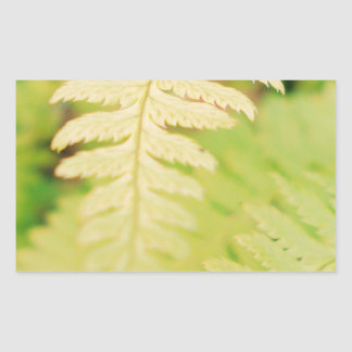 Green Leaf Rectangle Stickers