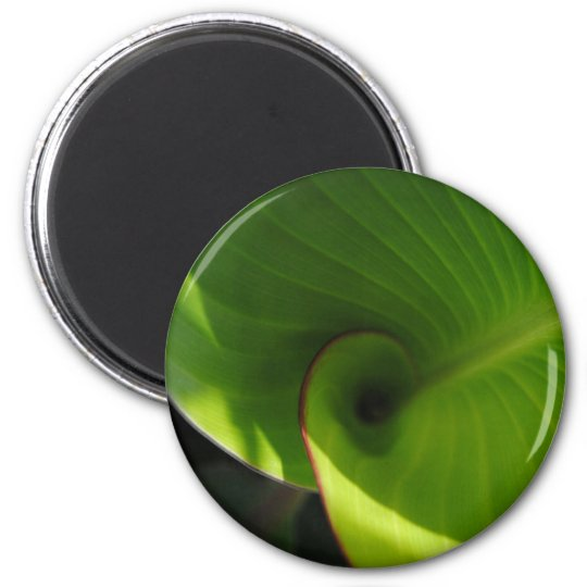 Green Leaf Swirl Magnet