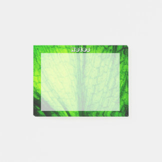 Green Leaf Texture Post-it Notes
