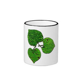 Green Leaf Trio Ringer Mug