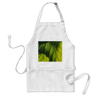 Green Leaf Veins Standard Apron