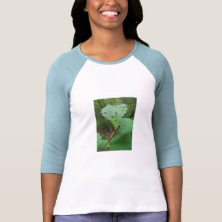 Green Leaf with Holes Tee Shirt