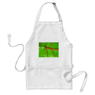 Green Leaf with Red Veins Standard Apron