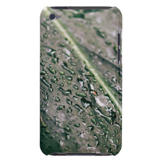 Green Leaf With Water Drops, Wet Botanics iPod Touch Case-Mate Case
